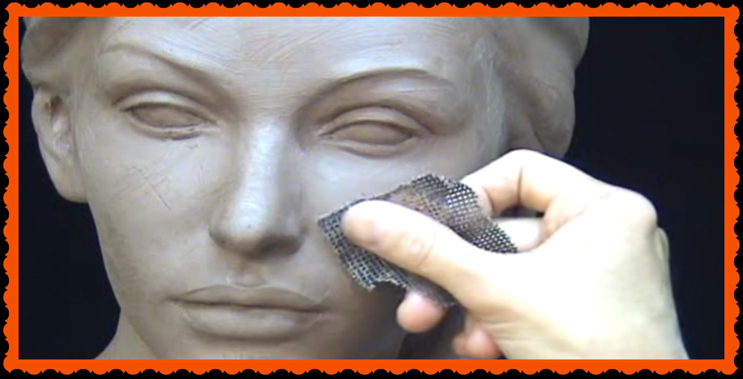 Alphalady sculptuur schuurpapier